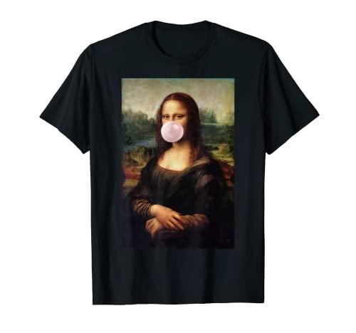 Mona Lisa Kaugummi Leonardo da Vinci Shirt Tshirt Kunstdruck T-Shirt