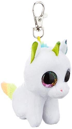 TY T35040 Unicorn Pixy, Einhorn mit Glitzeraugen, Beanie Boo's, Plüsch, 8,5 cm, Weiß/Bunt