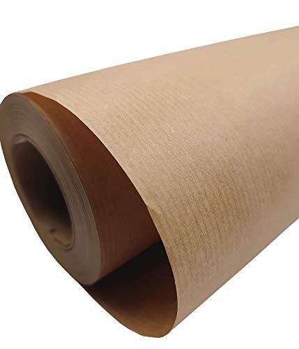 PAKNOR 50 cm - 50 m Braun KRAFTPAPIER, Geschenkpapier, Kraftpapierrolle Ideal für Kunsthandwerk, Geschenkverpackung Verpackung, Packpapier, Lebensmittelpapier