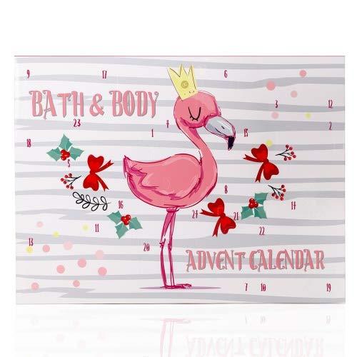 Accentra Adventskalender Flamingo Für Mädchen Mit 24 Bade-, Körperpflege Und Accessoires Produkten Für Eine Abwechslungsreiche Und Verwöhnende Adventszeit