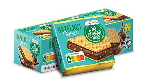 frankonia CHOCOLAT NO SUGAR ADDED Hazelnut Waffles, 9 Stück