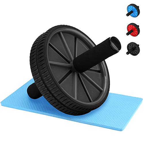 REEHUT AB Roller Bauchtrainer mit Knieauflage Bauchmuskelroller für Fitness Perfekt für Einsteiger und Frauen