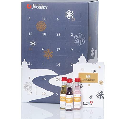 Gin Adventskalender Probierset (24 x 20ml) * Tasting Set mit Gins aus 13 Ländern *