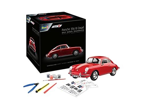 Revell 1029 Adventskalender Dream Cars Porsche 356 B Coupé mit dem Easy-Click-System 24 Tagen zum selbstgebauten Modellauto, Rot