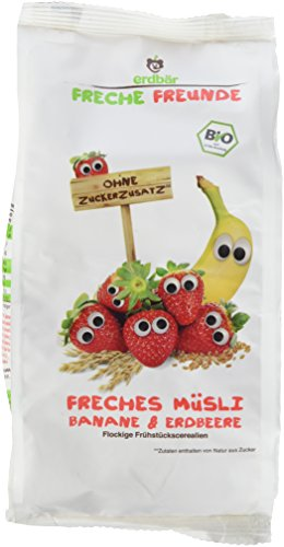 Freche Freunde Bio Frühstücks-Müsli 'Banane & Erdbeere', 8er Pack (8 x 200 g)