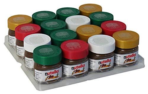 Nutella Geschenke Christbaumschmuck 30g Mini Glas zum Aufhängen, 16er Pack (16 x 30g)