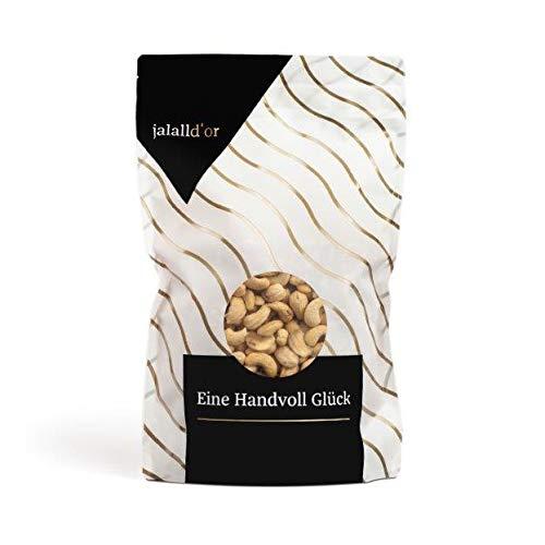 Cashewkerne bio Jalall D'or   1kg   natur   BIO zertifiziert   ganz   BIO CASHEWS frisch abgefüllt   wertvolle MAGNESIUM-Quelle   natürlicher TRYPTOPHAN-Lieferant   Cashewnüsse 1000 g