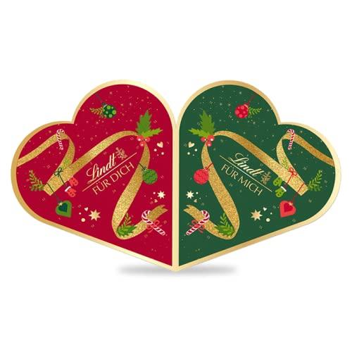 Lindt Pärchen-Adventskalender 2021 für 2 Personen   2 x 252 g Schokolade zu Weihnachten   Ideales Schokoladen-Geschenk