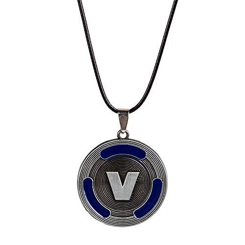 V Kette Anhänger , Game Fan V Bucks Necklace Best Gifts for Boys Girls Kids Game Lovers