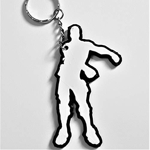 Dances Schlüsselanhänger inspiriert von Online-Gaming-XBOX, Playstation & PC (Floss B/W)