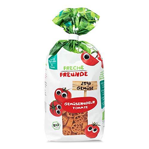 Freche Freunde Bio Gemüse-Nudeln 'Tomate', mit 25% Gemüseanteil, für Kinder, vegan, 6er Pack (6 x 300 g)