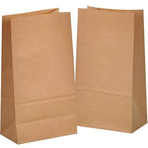 kgpack Papiertüten 50 STK Braun - 14 x 26 x 8 cm Kraftpapiertüten Geschenktüten braune Tüten Basteln Kraftpapier DIY Bodenbeutel zum befüllen Geschenkverpackung klein Adventskalender