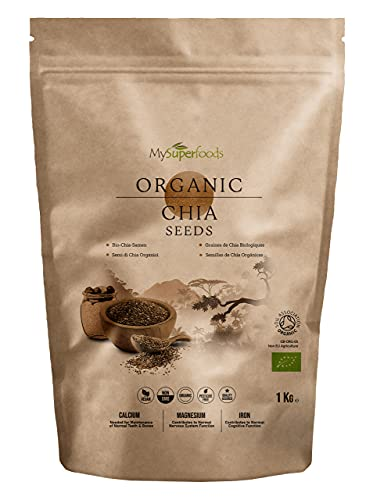 MySuperFoods Organische Chia-Samen 1Kg, Natürliche Quelle für Omega-3 & Proteine