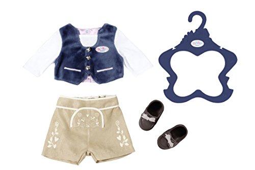 BABY Born 824511 Trachten-Outfit Junge, bunt, 43 cm