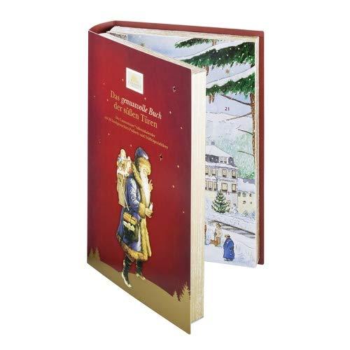 Lauensteiner Adventskalender'Buch' | 350g handgefertigte Trüffel und Pralinen | 24fach sortiert - mit und ohne Alkohol | Geschenk für Männer und Frauen