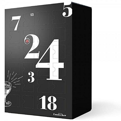 Wein Adventskalender - '24 erlesene Weine aus Baden' in schwarz (24x0.25 l) | Adventskalender für Erwachsene und Paare | Weinkalender für Genießer | Weinprobe ideal fürs Büro oder für Zuhause| Adventskalender im trendigen Design