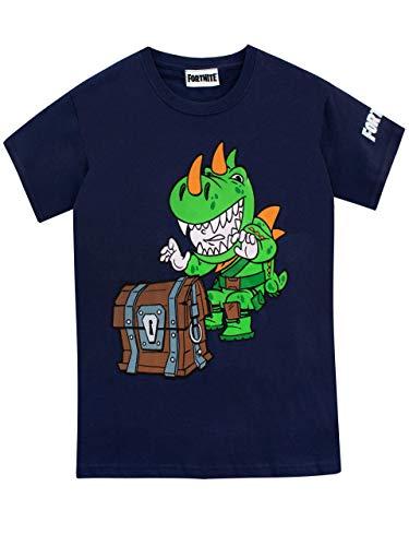 Fortnite Jungen T-Shirt ,164 (Herstellergröße: 14 - 15 Jahre/YXL),Blau
