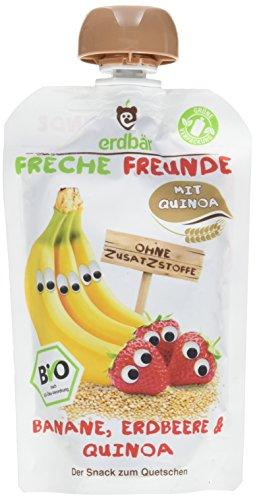 Erdbär Bio Frische Freunde Banane-Erdbeere-Quinoa, 100 g