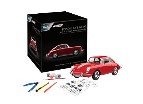 Revell 1029 Adventskalender Dream Cars Porsche 356 B Coupé mit dem Easy-Click-System in 24 Tagen zum selbstgebauten Modellauto, Rot