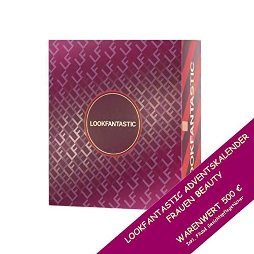 LOOKFANTASTIC Adventskalender 2021 Frauen - Beauty Kosmetik Advent Kalender, 24 Geschenke Wert 500 €, Pflege Weihnachtskalender Frau, Adventkalender Damen