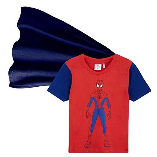 Marvel T-Shirt Jungen, Avengers T Shirt für Kinder und Jugendliche, Cool T Shirt Jungs mit Kap 4-14, Geschenke für Kinder (Rot, 5-6 Jahre)