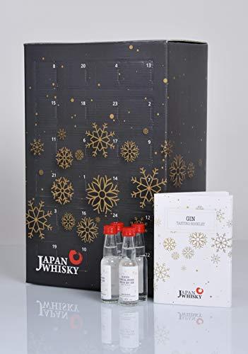 Gin Adventskalender Probierset (24 x 20ml) * Tasting Set mit Gins aus 9 Ländern *