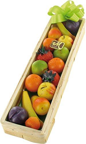 Odenwälder Marzipan Früchte Geschenkkorb in Spankistchen 225g Enthält 15g Früchte Bananen, Erdbeeren, Birnen, Orangen, Mirabellen, Äpfel, Pflaumen