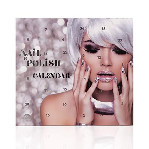 Beauty-Adventskalender Nagellack, 24 top Farben im Nagellack Adventskalender metallic effect Nagellack, nude, pastell uvm., Nagellack-Sets mit 24x4ml
