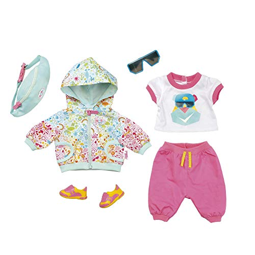 Zapf Creation 827192 BABY born Deluxe Fahrrad Outfit, Puppenkleidung 43 cm