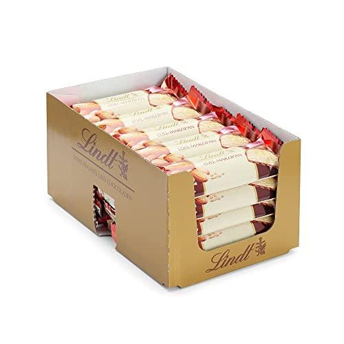 Lindt Marzipan Riegel   25 x 50g im Thekendisplay   Pures Marzipan mit dunkler Schokolade   Feinherbe Alpenmilch-Schokolade   Schokoladen Großpackung