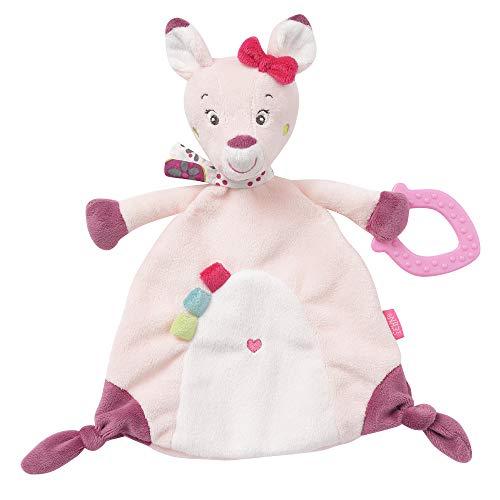 Fehn 076349 Schmusetuch Rehkitz – Stofftier-Schnuffeltuch mit Softbeißer zum Kuscheln, Greifen, Fühlen für Babys und Kleinkinder ab 0+ Monaten