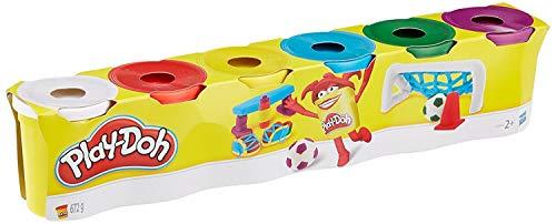 Hasbro Play-Doh C3898EU4 6er Pack Knete Grundfarben, Knete