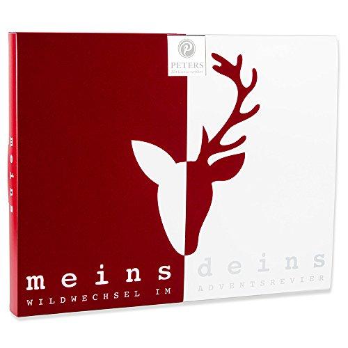 Peters Adventskalender 'Meins & Deins' für Paare   Pärchen Adventskalender mit edlen Pralinen   Weihnachtsgeschenk für Paare