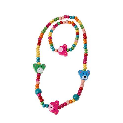 SimpleLife Princess Halskette Armband Schmuck Set Kleinkind Kinder Modeschmuck, Geschenke für kleine Mädchen