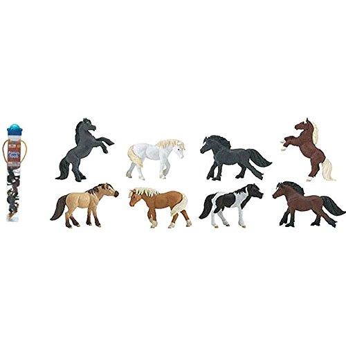 Safari - Pony Figuren in Röhre