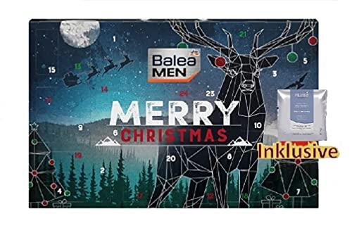 Balea Adventskalender 2021 Männer Beauty- 24 Pflege Beauty Kosmetik Advent Kalender für den Mann, Weihnachtskalender Wert 80€, Herren Men