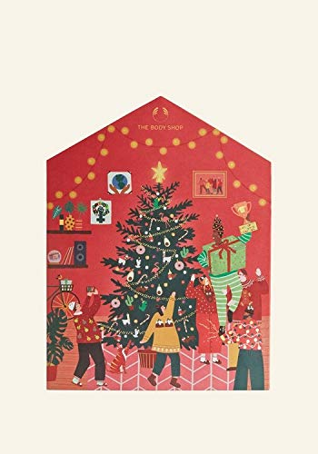 The Body Shop Deluxe Adventskalender 2020 für die Frau, Beautykalender Wert 250 €, 24 Damen Kosmetik Produkte, TheBodyShop Advent Calendar