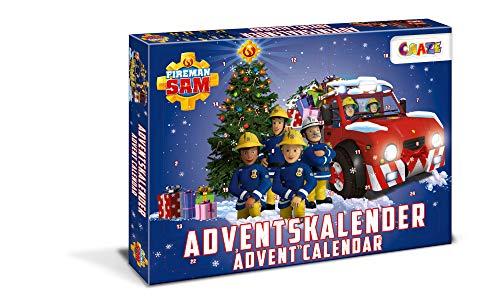 CRAZE ADVENTSKALENDER Fireman Sam Weihnachtskalender Feuerwehrmann für Mädchen Jungen Spielzeugkalender mit Spielfiguren 24690, Tolle Überraschungen