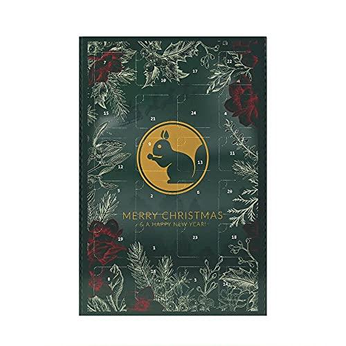 KERNenergie Veganer Premium Adventskalender – Weihnachtskalender mit Nüssen, Kernen und Trockenfrüchten, 24 Advents-Überraschungen, Snack-Kalender für 2021, 24 x 60 g