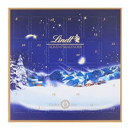Lindt Mini Tisch Adventskalender Weihnachtszauber (24 Mini Schokoladen-Kugeln) 2er Pack, 2 x 115g
