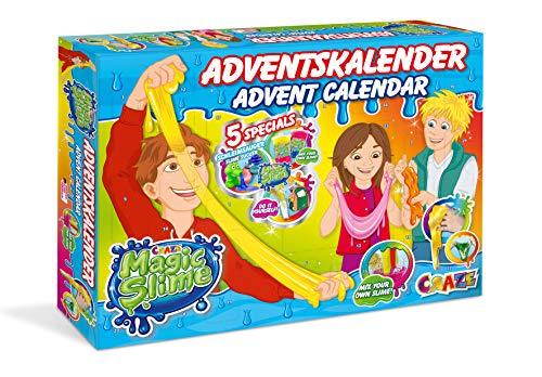 CRAZE Adventskalender MAGIC SLIME Kinderschleim 2019 Weihnachtskalender für Mädchen und Jungen Spielzeug Kalender tolle Inhalte 19412