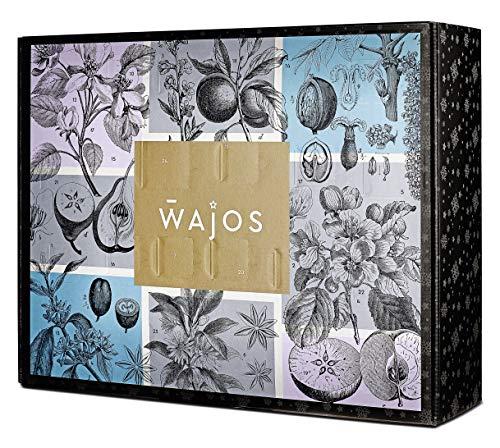 WAJOS Adventskalender 2020 - Premium Bar Spezialitäten | Weihnachtskalender mit 24 Türchen voller Likör, Gin, Whiskey & Spirituosen Überraschungen | Geschenk für Erwachsene Männer & Frauen