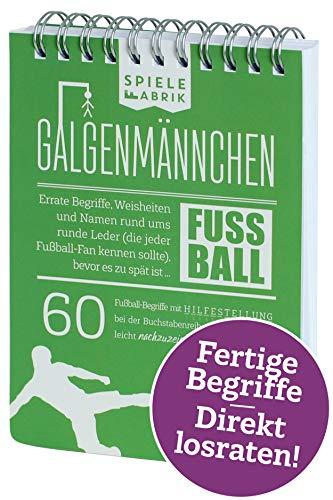 Spiel Fußballfan GALGENMÄNNCHEN   Rate 60 Fussball-Begriffe   Fußballgeschenk für Jungs   Spiele-Klassiker 2.0   Partyspiel   Trinkspiel   Reisespiel   Wichteln   A6-Block im Abreißkalender-Format