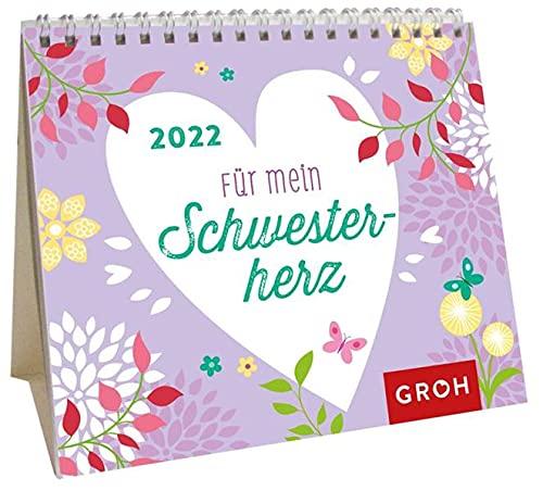 Für mein Schwesterherz 2022: Mini-Monatskalender. Kleiner Aufstellkalender mit Monatskalendarium