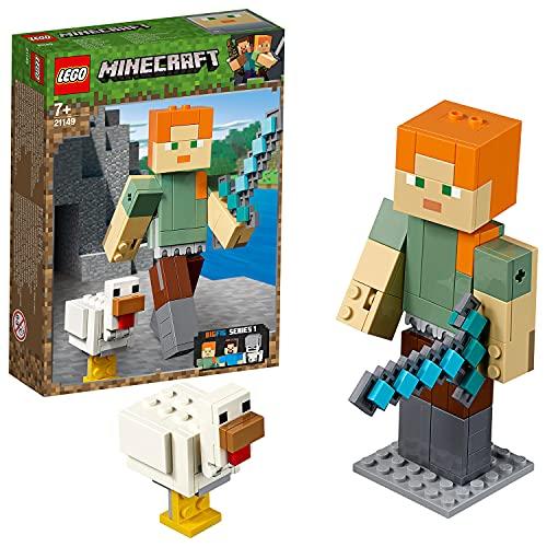 Lego 21149 Minecraft BigFig Alex mit Huhn (Vom Hersteller Nicht mehr verkauft)