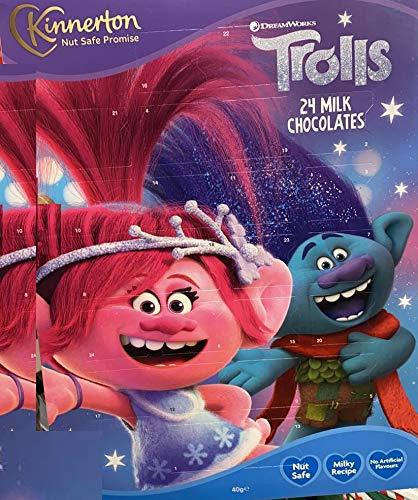A2Z Home Solutions 2020 Kids Trolls Adventskalender mit 24 Milchschokoladen, Countdown