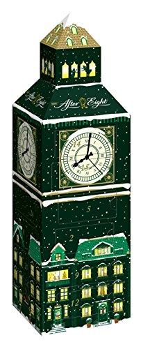 Nestlé AFTER EIGHT Adventskalender, Weihnachtskalender für Erwachsene, mit feinster Schokolade, dekoratives Big Ben Design, 1er Pack (1 x 185g)