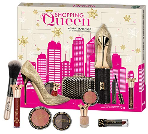 Shopping Queen Beauty Adventskalender – exklusives Lizenzprodukt der VOX Sendung | 24 Kosmetik- und Schmink-Überraschungen für Fans, Frauen und Teenager, 650gr.