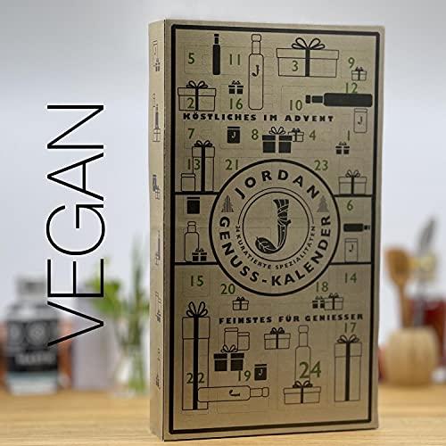 Jordan Genuss Kalender 2021 - VEGAN - Adventskalender mit 24 Türchen - 85cm x 46cm - aus nachhaltigem Graspapier - mit feinsten kuratierten Lebensmitteln