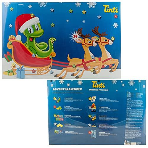 Tinti Adventskalender mit 24 Türchen 2021 - 24 x Bade-. Spiel- und Sammelspaß